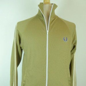 FRED PERRY ZIP CAMEL WARM UP SWEATER JACKET XSMALL
